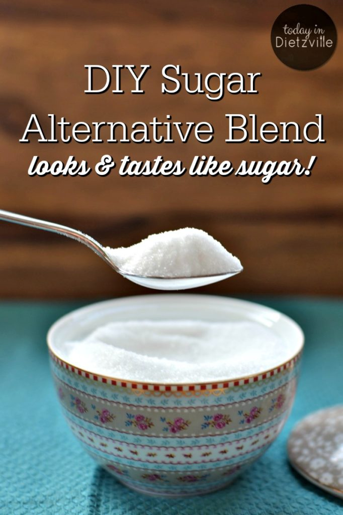 DIY Sugar Alternative Blend, aka Dietz Sweet   This year, I ended my 32-year committed relationship with sugar. But I'm not missing out on sweets because I have a trick up my sleeve for a DIY blend that substitutes for sugar cup for cup!   AllTheNourishingThings.com