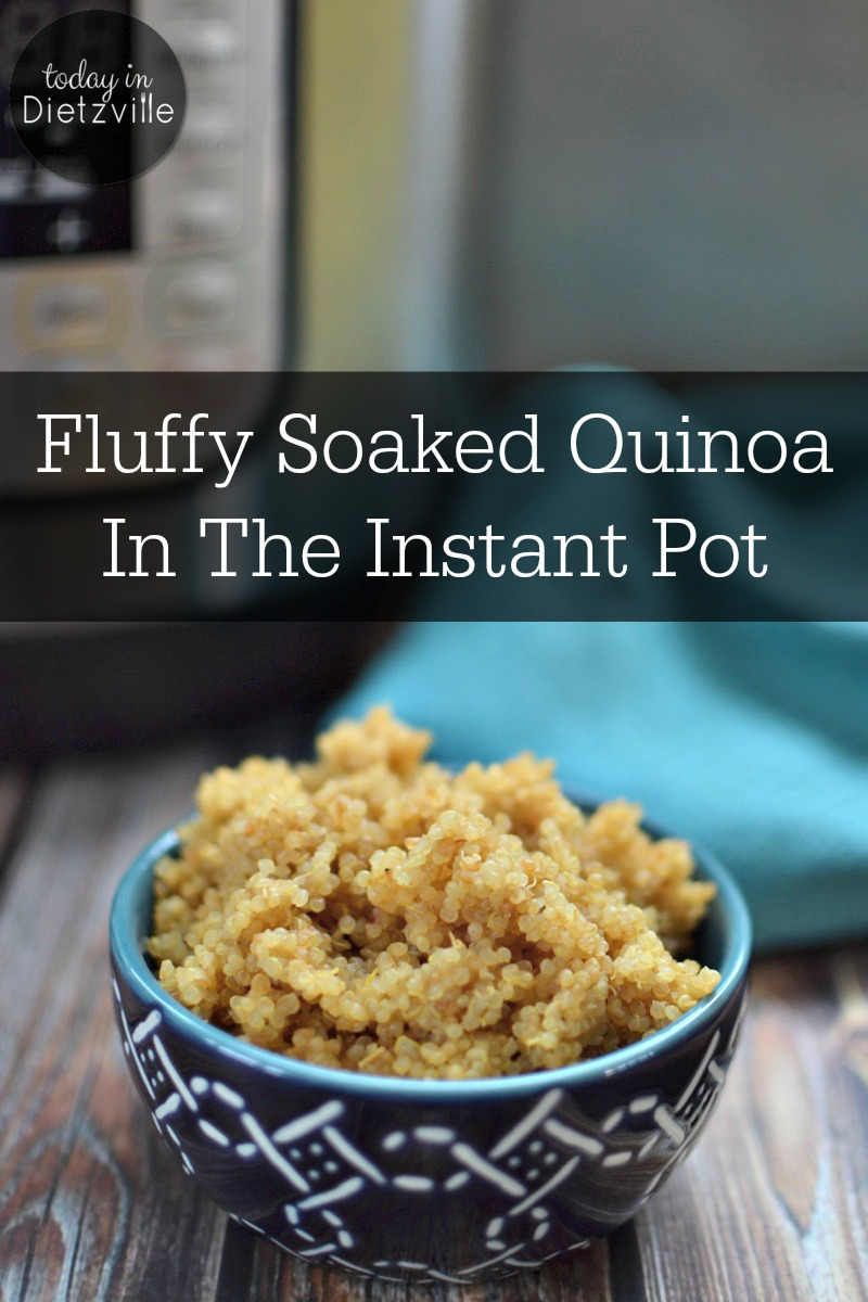 Fluffy Soaked Quinoa In The Instant Pot | I use my Instant Pot to cook perfectly fluffy quinoa in just 4 (yes, you read that right) minutes is truly a wonder! AND I give it a long soak first to reduce phytic acid and saponins for better digestion! Here's how! | AllTheNourishingThings.com