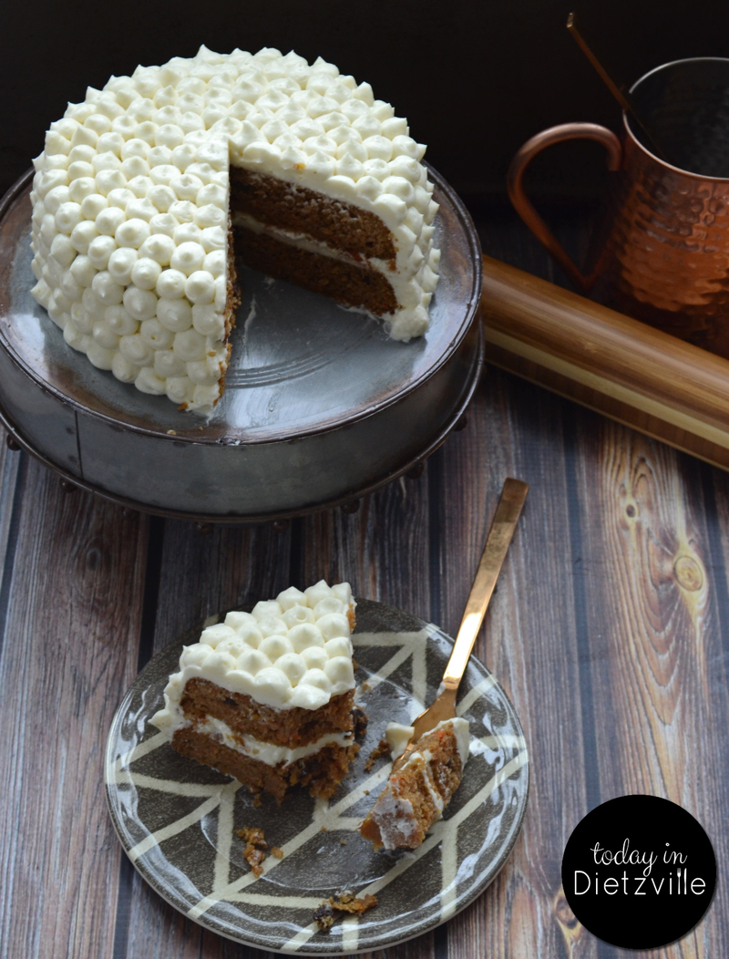This Grain-Free Maple Carrot Cake with cultured maple cream cheese frosting is flavorful without overpowering sweetness. You can actually taste the maple flavor, the cinnamon and nutmeg, and the sour tang of the probiotic frosting in this allergy-friendly, nourishing cake!