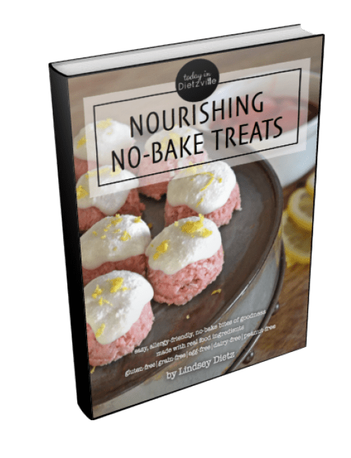 Nourishing No-Bake Treats | Want to make nourishing desserts, snacks, and treats in minutes with NO baking, minimal tools, and just one appliance? This digital download is full of allergy-friendly (no gluten, grains, dairy, eggs, soy, or peanuts!) bites of goodness that are perfect for school lunches, special occasions, picnics, potlucks, and more! | AllTheNourishingThings.com