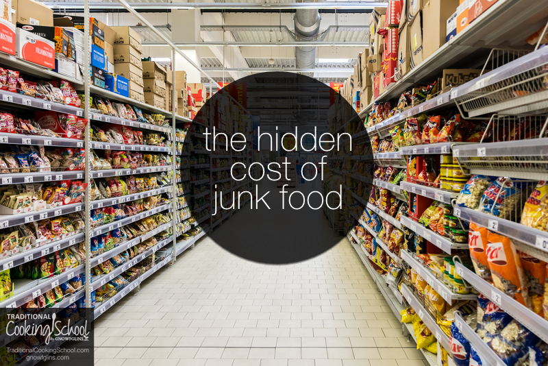Whether you eat healthy or not, your food is costing you something. Cheap, processed food and junk foods, however, may result in disease, doctor bills, and hospital stays later on. Learn about the hidden cost of junk food + 16 ideas to stretch your food budget and afford more organic foods!