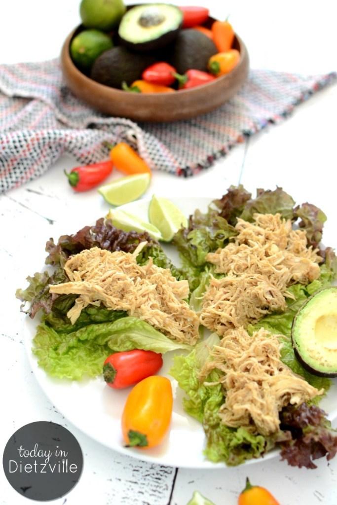 Super Simple Salsa Verde Chicken – Instant Pot or Slow Cooker {Paleo, Whole30}