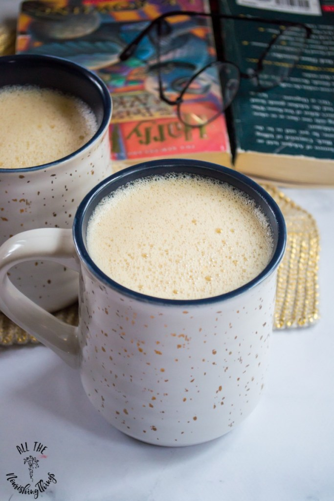 Nourishing Non-Alcoholic Harry Potter Butter Beer (with a dairy-free option!)
