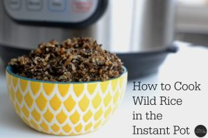 how to cook wild rice in the instant pot