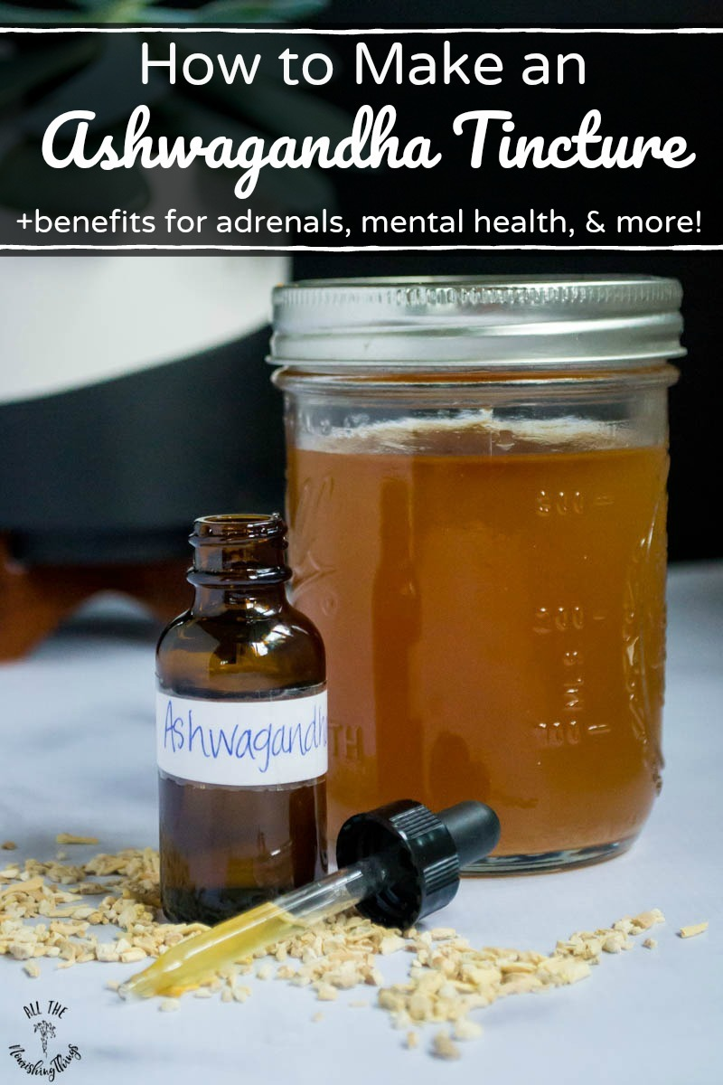 how to make an ashwagandha tincture pin image