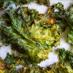 close-up of the best kale chips recipe