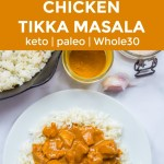 instant pot chicken tikka masala with text overlay