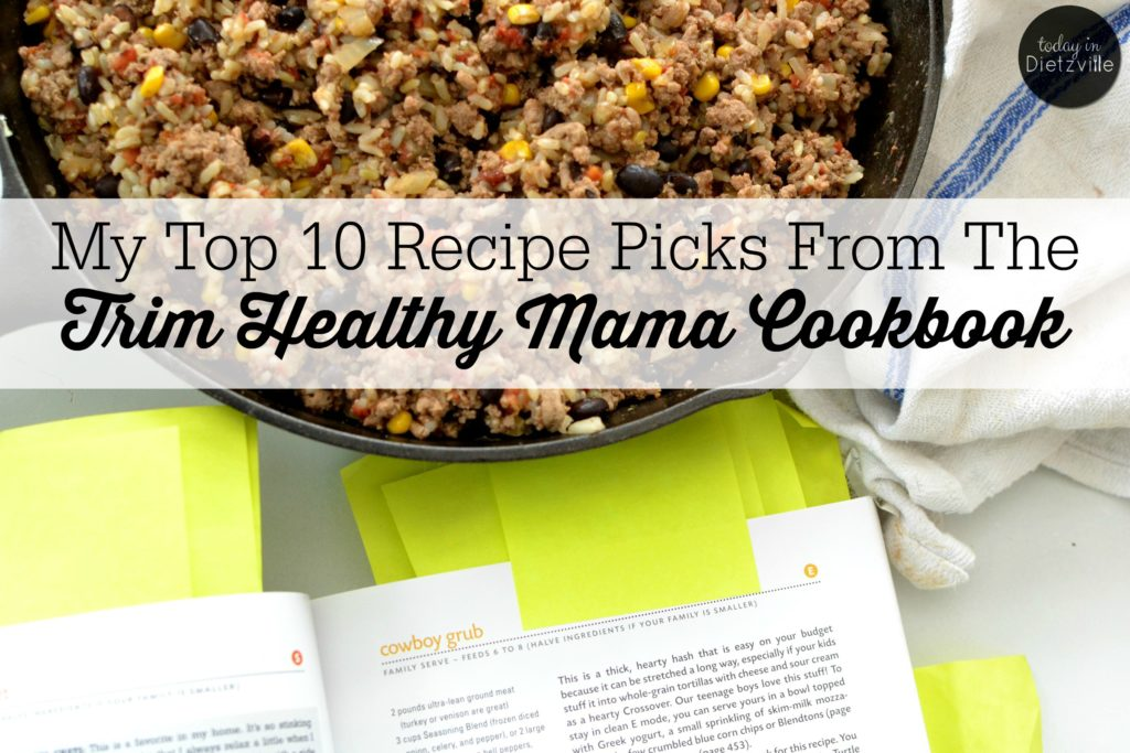 My Top 10 Recipe Picks From The Trim Healthy Mama Cookbook   The 1 thing you absolutely NEED if you're going to do Trim Healthy Mama? The new THM Cookbook! I basically have 276 Post-its sticking out of mine, and I use it multiple times a day. I am 100% certain that it's been instrumental in our ability to thrive on this eating plan -- and since January 1, I've lost 12 pounds!   AllTheNourishingThings.com