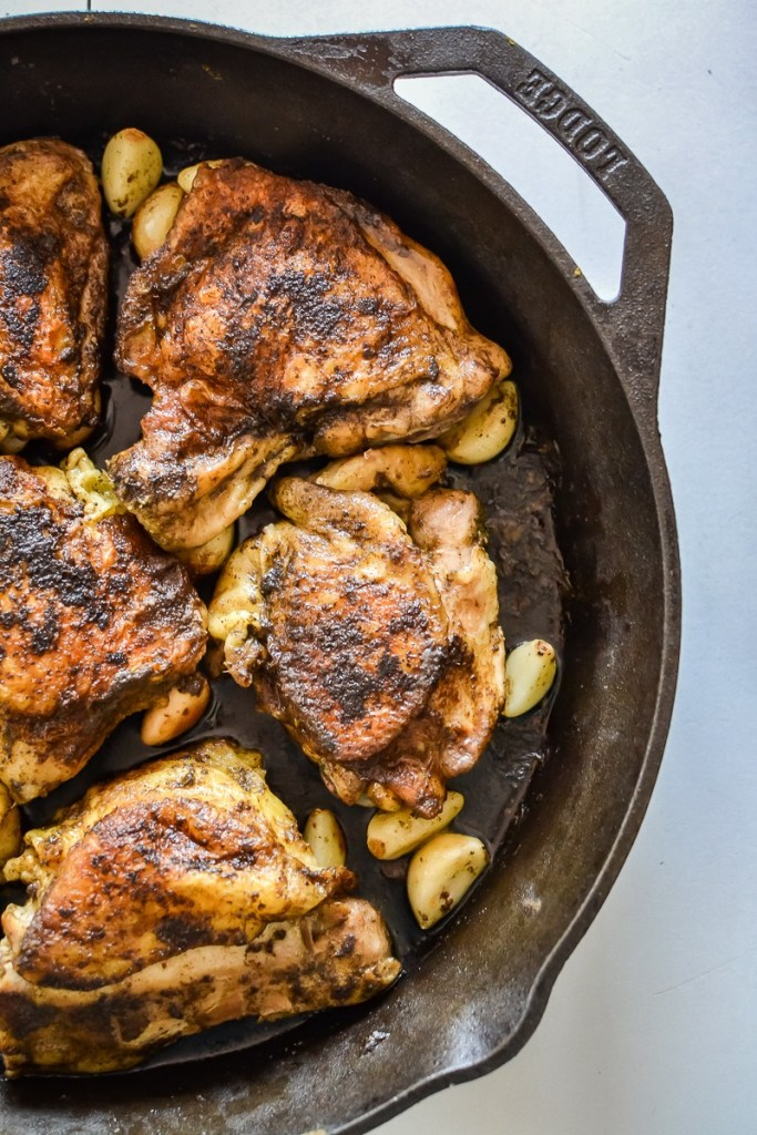 Chicken with 40 Cloves of Garlic (paleo, keto, Whole30)