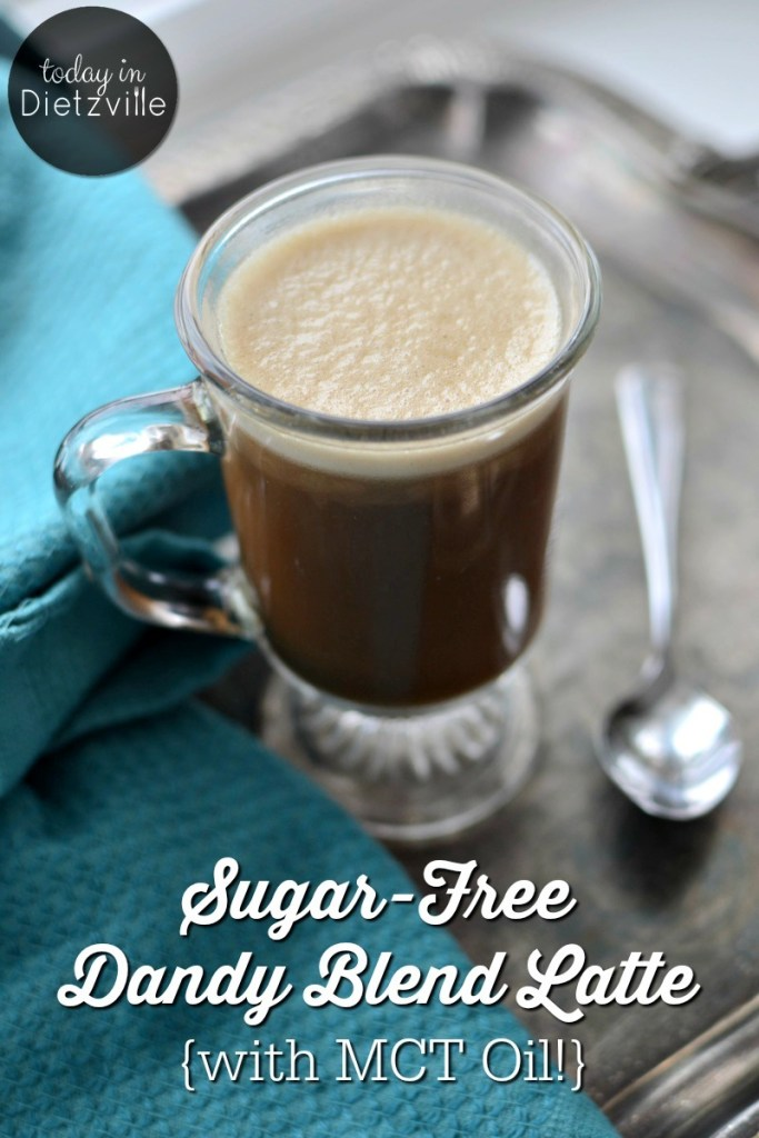 Sugar-Free Dandy Blend Latte {with MCT oil!}