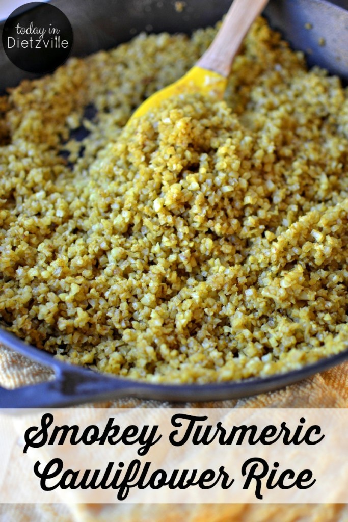 Smokey Turmeric Cauliflower Rice {Paleo & Whole30}