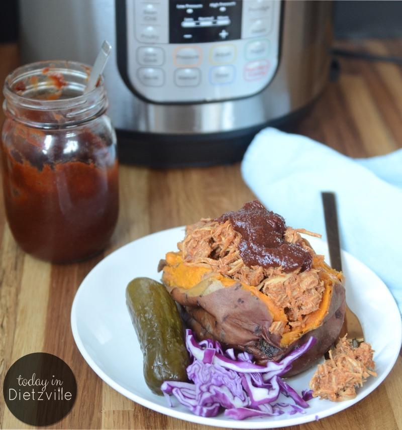 Instant Pot Pulled BBQ Chicken (no sugar, keto option)