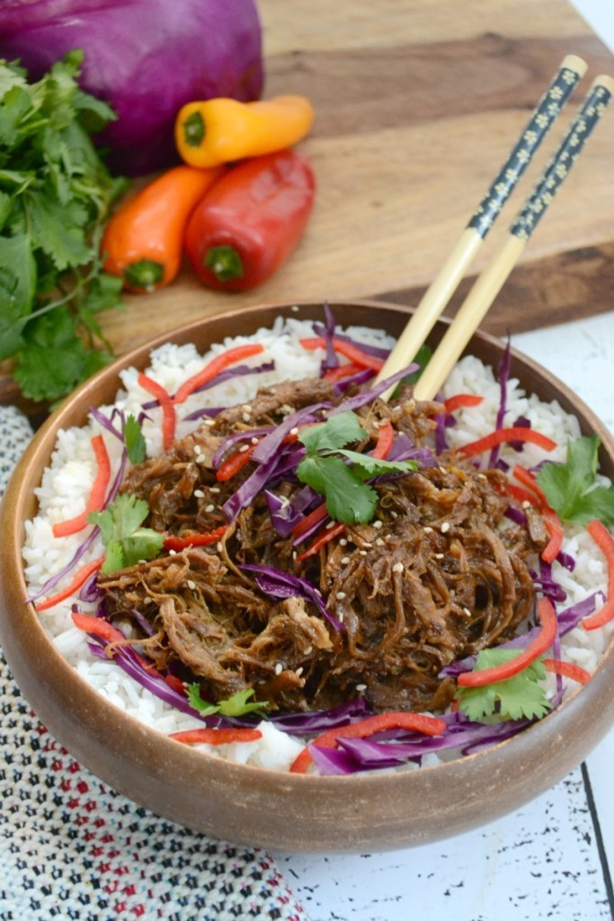 Instant Pot Sweet 'n Spicy Asian Pulled Pork (paleo, keto option + finding pastured pork)