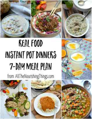 colorful food photos of real food instant pot dinners meal plan