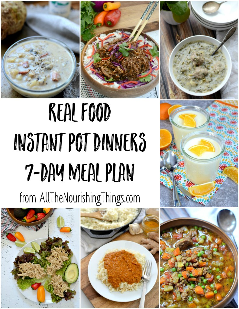 colorful photos of real food instant pot dinners meal plan
