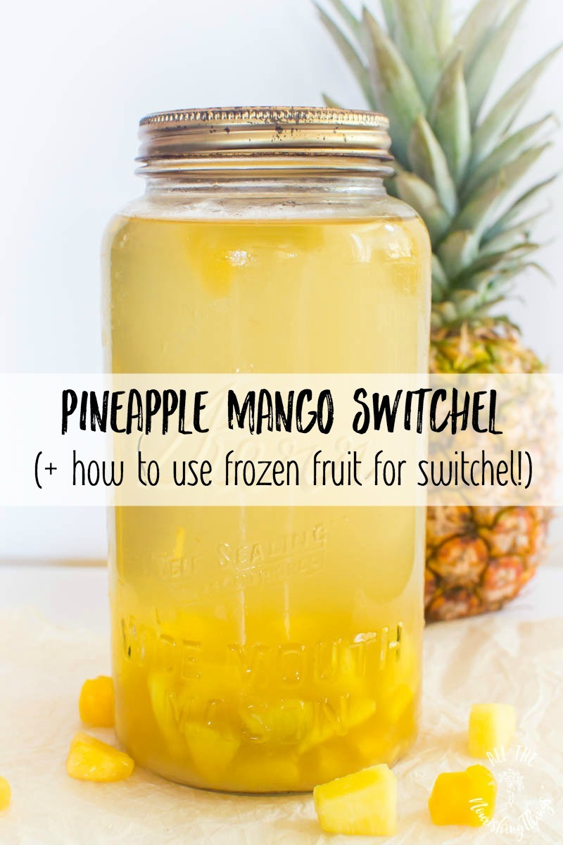 pineapple mango switchel plus how to use frozen fruit for switchel