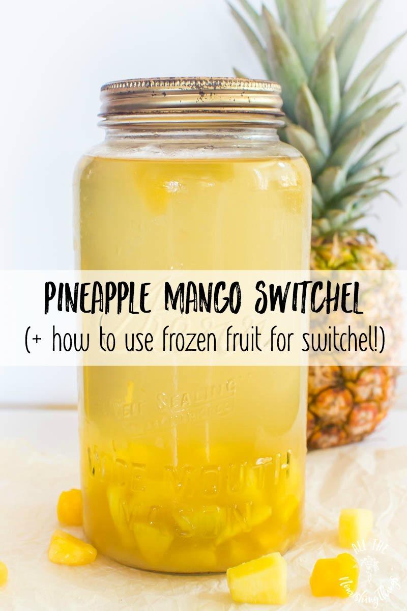 pineapple mango switchel plus how to use frozen fruit for switchel