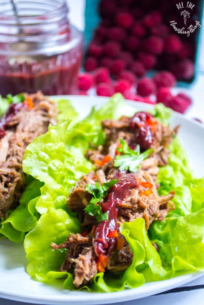 Instant Pot Raspberry Chipotle Pulled Pork (keto, paleo, THM:S)