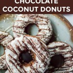 nut-free keto chocolate coconut donuts