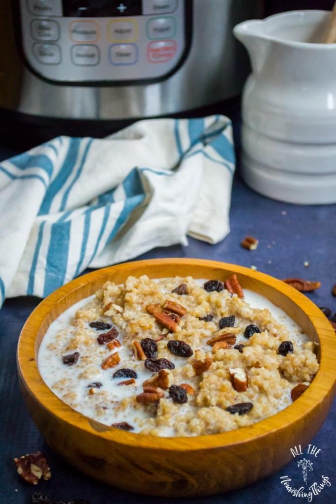 Instant Pot Quinoa Breakfast Porridge (gluten-free, grain-free, dairy-free)
