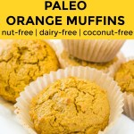 paleo orange muffin collage with text overlay