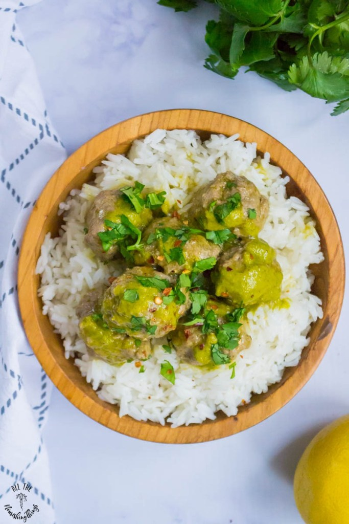 Instant Pot Cilantro Meatballs (keto, paleo, Whole30)
