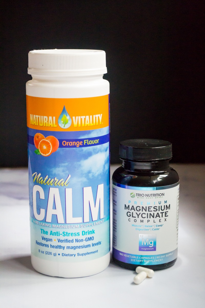 container of magnesium citrate and magnesium glycinate complex