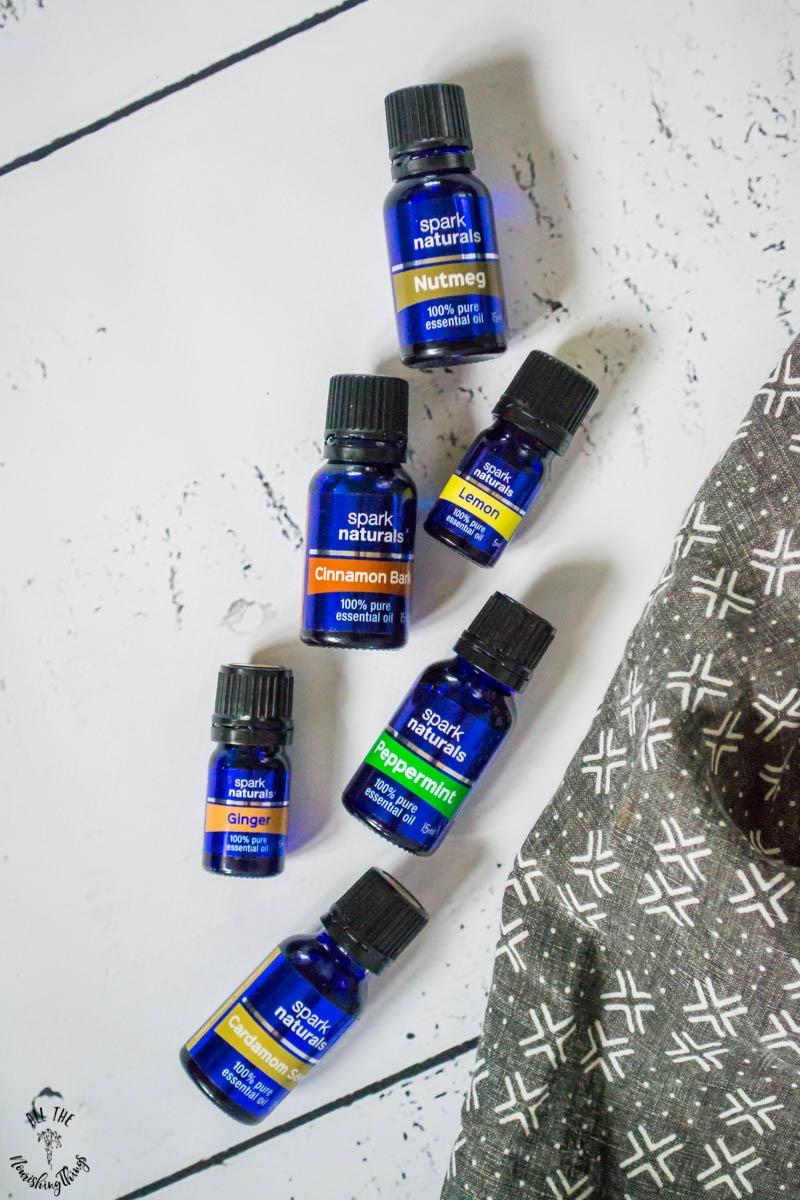 bottles of spark naturals essential oils for instant pot cooking