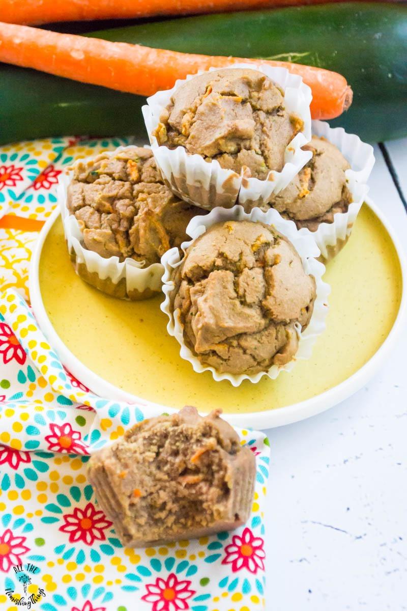 cassava flour carrot zucchini muffins