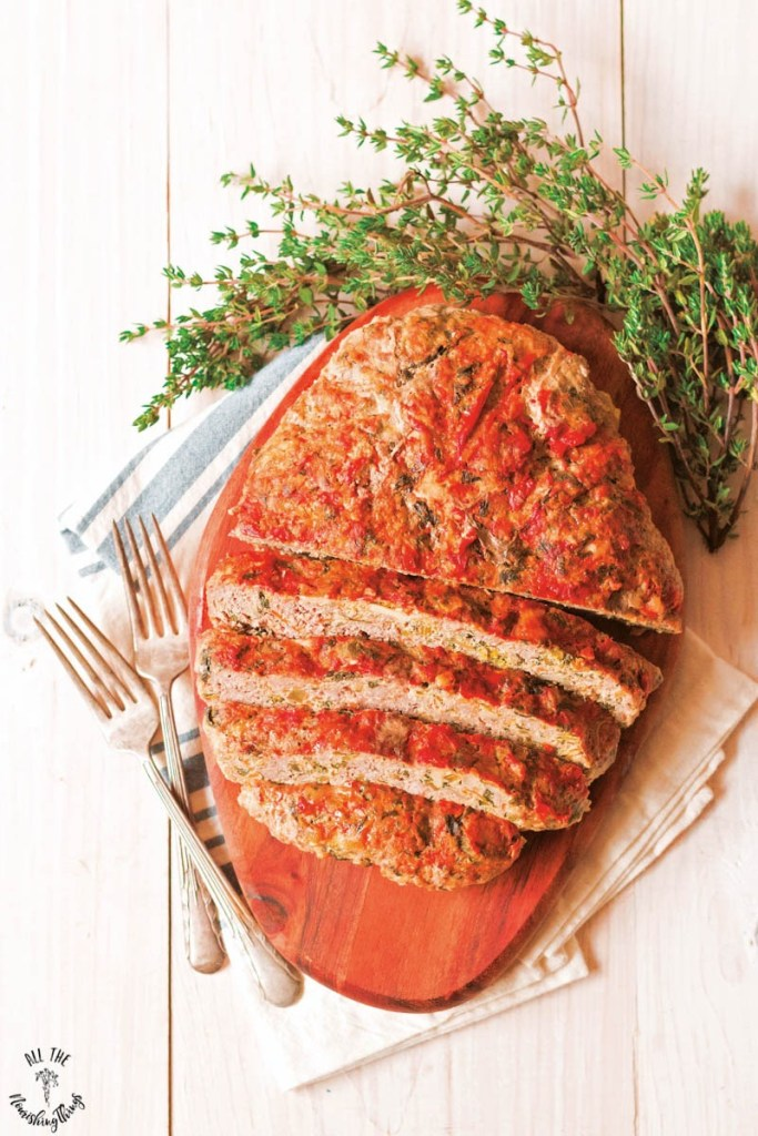 Low-Carb Instant Pot Cheesy Veggie-Stuffed Meatloaf (keto, grain-free, primal)