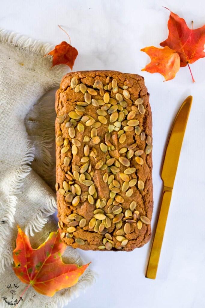 Best Cassava Flour Pumpkin Bread (nut-free, dairy-free, grain-free)