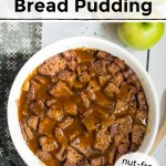 gluten-free instant pot apple cider sourdough bread pudding