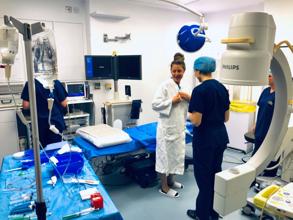 operating room at the whiteley clinic