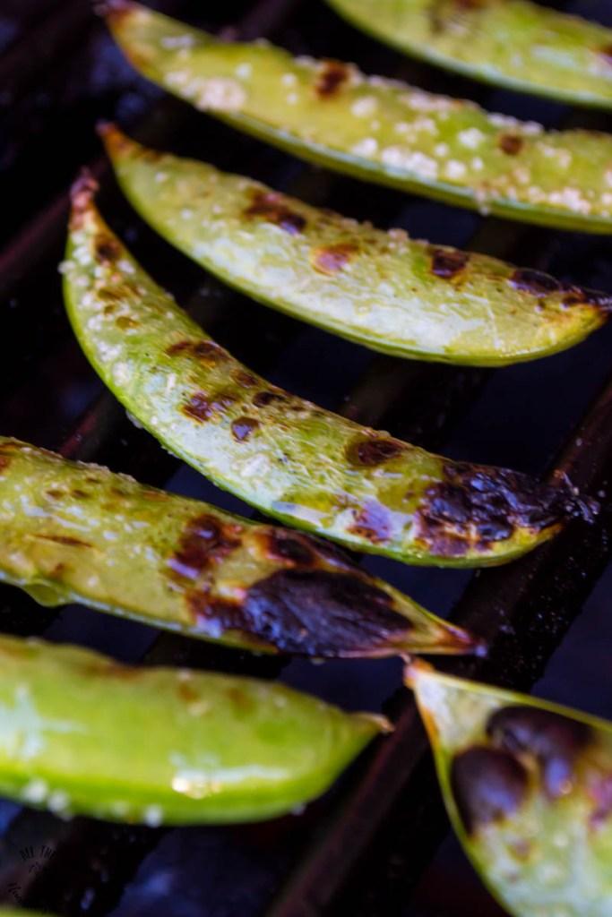 Grilled Sugar Snap Peas (keto, paleo, Whole30, vegan)