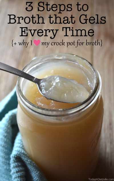 3 Steps To Broth That Gels Every Time {+ why I love my Crock Pot for broth}