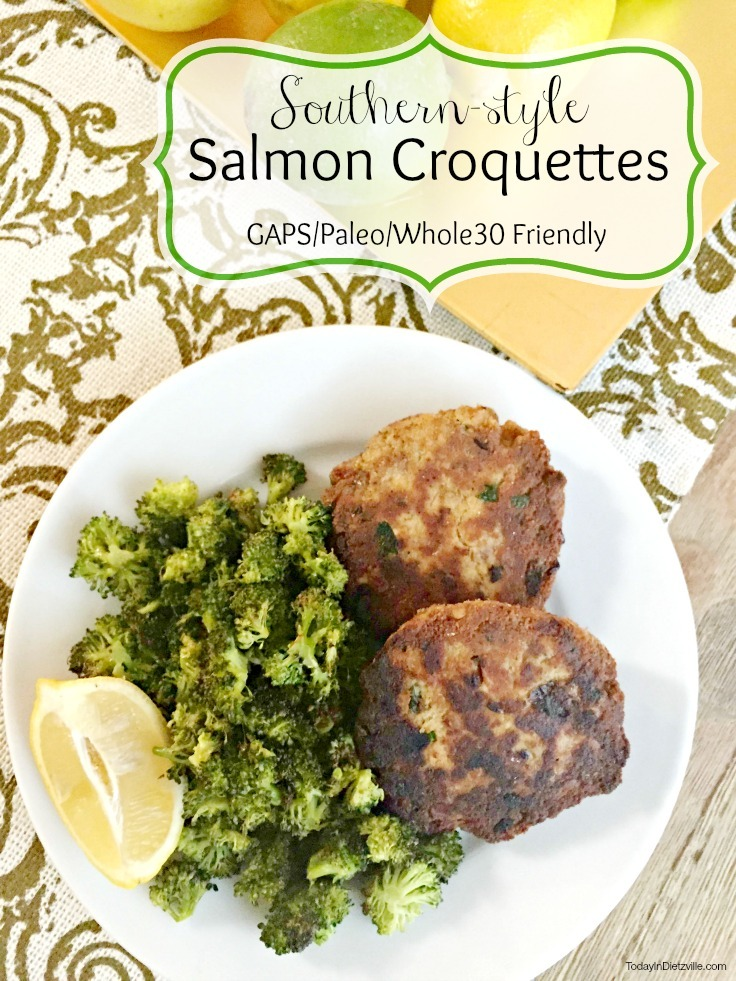 Southern-style Salmon Croquettes (GAPS, Paleo, Whole30)