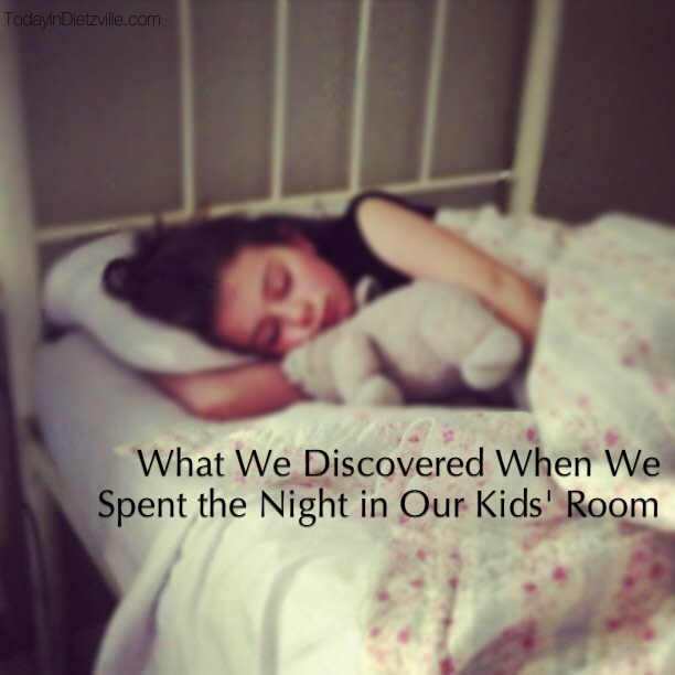 What We Discovered When We Spent the Night in Our Kids' Room (+10 tips for creating a sleeping sanctuary for your kids!)