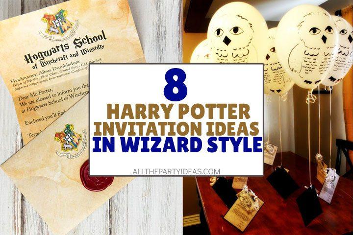 8 diy harry potter invitation ideas