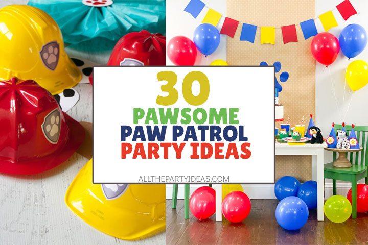 paw patrol party ideas free printables