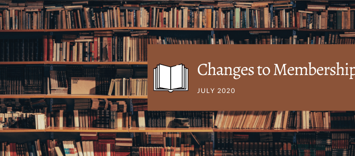 Changes to Memberships – 1 July 2020