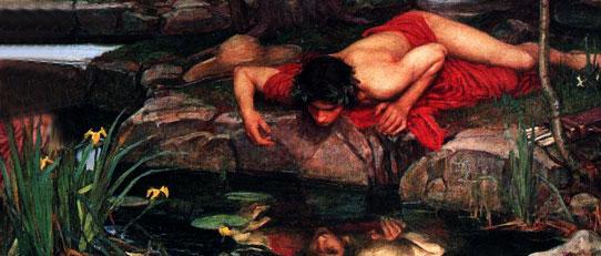 Eco y Narciso de Waterhouse