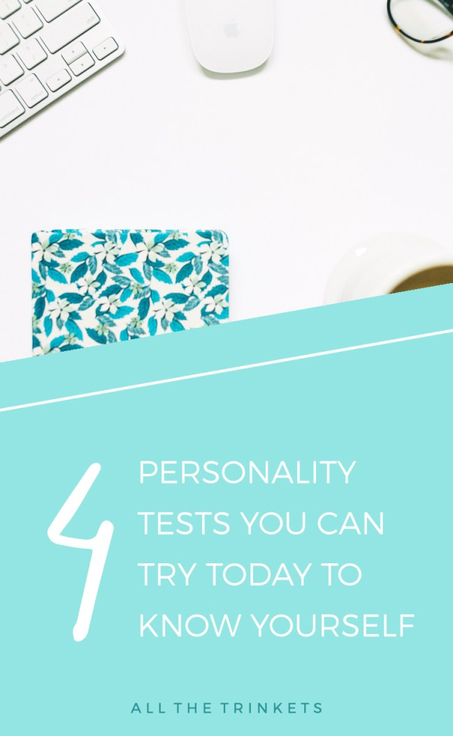 4 Personality Tests You Can Try Today | Know yourself, self-improvement, personal growth