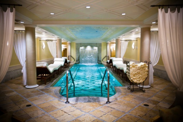 The relaxation pool at the Kohler Waters Spa.
