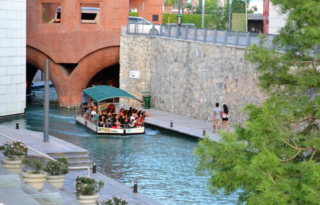 Santa Lucia Riverwalk connects Macroplaza and Fundidora Park