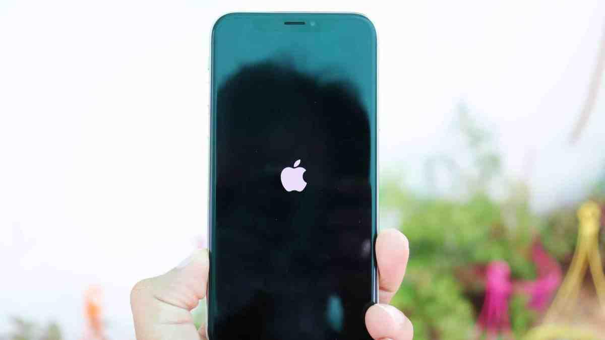 iPhone X restart - Apple Logo