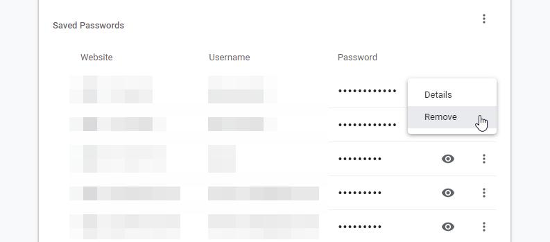 Remove Password Autofill Chrome