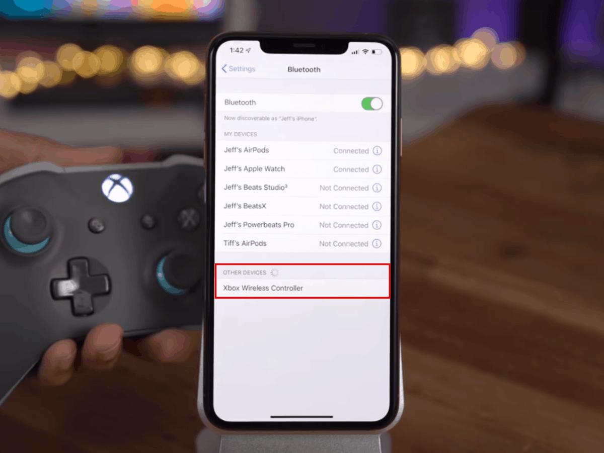 Xbox Wireless Controller iPhone Bluetooth Settings iOS 13