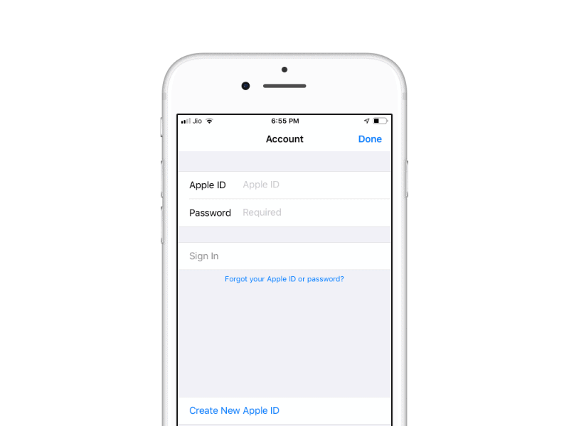 Sign in Apple ID and Password App Store iTunes Store iPhone