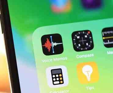 iPhone Voice Memos app