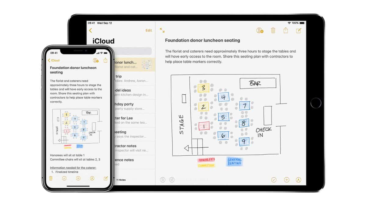 iCloud Notes sync iPhone and Mac